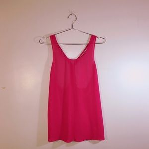 Lost April For Anthropologie Hot Pink Tank Top